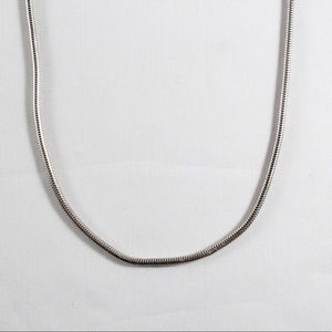 """Sterling Silver 3mm Snake Chain Necklace 24.5"""""""